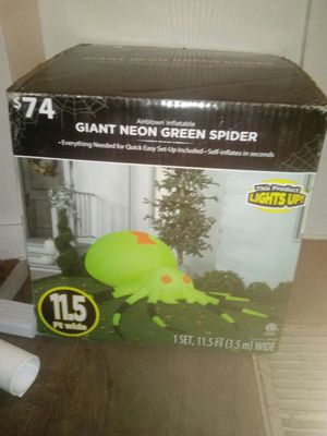 Neon green spider lights up for Sale in Columbus, OH