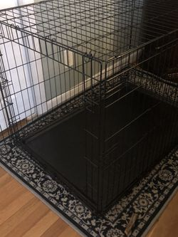 XL Black 2 Doored Foldable Dog Crate for Sale in Rockville,  MD