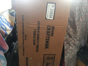 "Craftsman 10"" direct drive table saw never opened for Sale in Santee, CA"