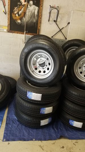 6 lug trailer TIRE/RIM NEW ST225/75R15 10PLY HEAVY DUTY for Sale in Douglasville, GA