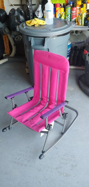 Kids Childs Folding Rocking Chair Pink Toys Foldable for Sale in Seminole, FL