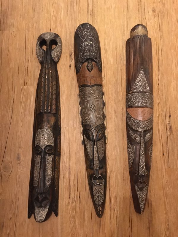 African Tribal Wall Masks