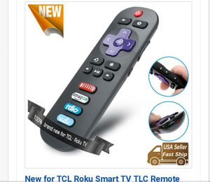 Remote Control fit for TCL Roku TV for Sale in Lorain, OH