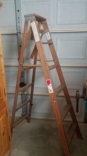 free 6ft wood ladder for Sale in Virginia Beach, VA