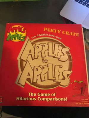 Board game- Apples to Apples party Crate for Sale in Brooklyn, NY