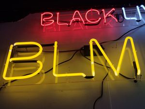 """""""BLM"""" Black Lives Matter Custom Neon Sing for Sale in Los Angeles, CA"""