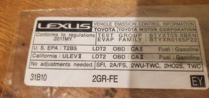 Emission Label 2011 Lexus RX350 OEM Part # 11298 31B10 for Sale in Waukegan, IL