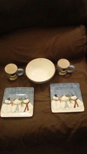 2 Person Square Snowman Dish Set for Sale in OH, US