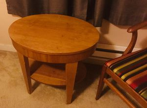 Small wooden table and chair for Sale in Federal Way, WA