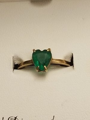 BEAUTIFUL GOLD RING WITH EMERALD for Sale in Annandale, VA