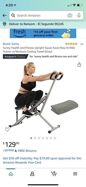 Sunny Health & Fitness Row & Ride Machine for Sale in Redondo Beach, CA
