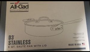 ALL-CLAD 6QT SAUTE PAN WITH LID for Sale in Leominster, MA