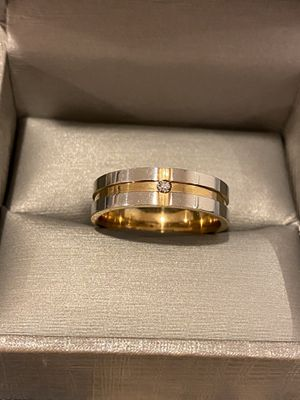 18K Gold plated- UNISEX- Engagement Diamond Ring 💍 — Code MTR39 for Sale in Dallas, TX