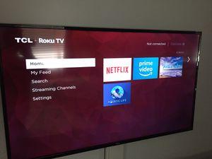 """55"""" Roku TCL 4K smart tv for Sale in Monroe, WA"""