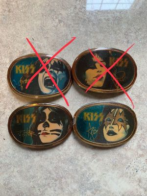 Used, Vintage 77 KISS buckles for Sale for sale  Graham, WA