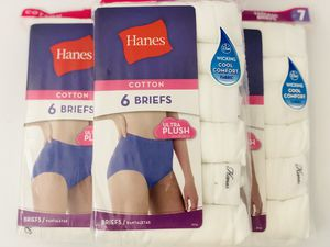 3 packs of Hanes 6 Pack Women's Tagless Briefs White for Sale in Stanton, CA