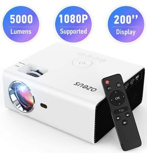 AZEUS RD-822 Mini Projector, Portable Movie Projector with 5000 Lux, Support 1080P and up to 200 '' Display, Compatible with HDMI, PS4, VGA, AV, USB, for Sale in Las Vegas, NV