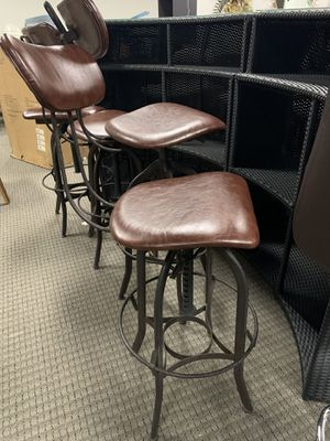 Brown rustic adjustable barstools. Good for restaurant and bar. Retails for $249each for Sale in Alexandria, VA