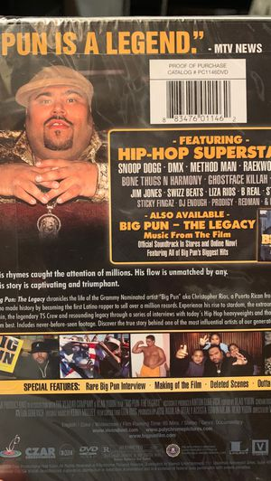 The Legacy (Documentary) : Big Pun for Sale in Lowell, MA