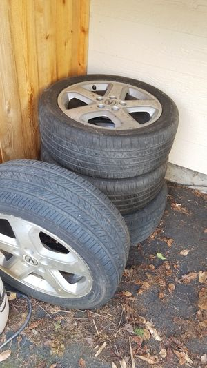 Set of 4 TL type S wheels and tires for Sale in Kent, WA