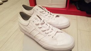 "12"" Adidas all white skateboarding sneakers size 12 men for Sale in Kent, WA"