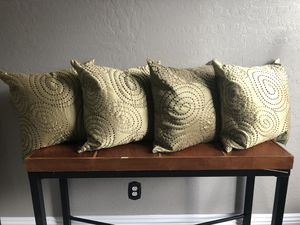 Designer pillows decor pillow/ tall candles with holders for Sale in Chandler, AZ