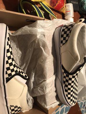 Checkerboard vans size 5 for Sale in Dallas, TX