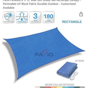 8 Ft X 12 Ft Blue Sun Shade for Sale in Odenton, MD