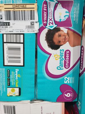 Pampers cruisers size 6 for Sale in Rosemead, CA