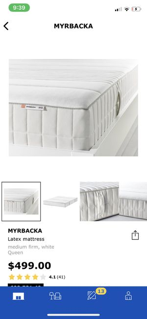 Ikea Firm Latex Matress and bed frame for Sale in Riverside, CA