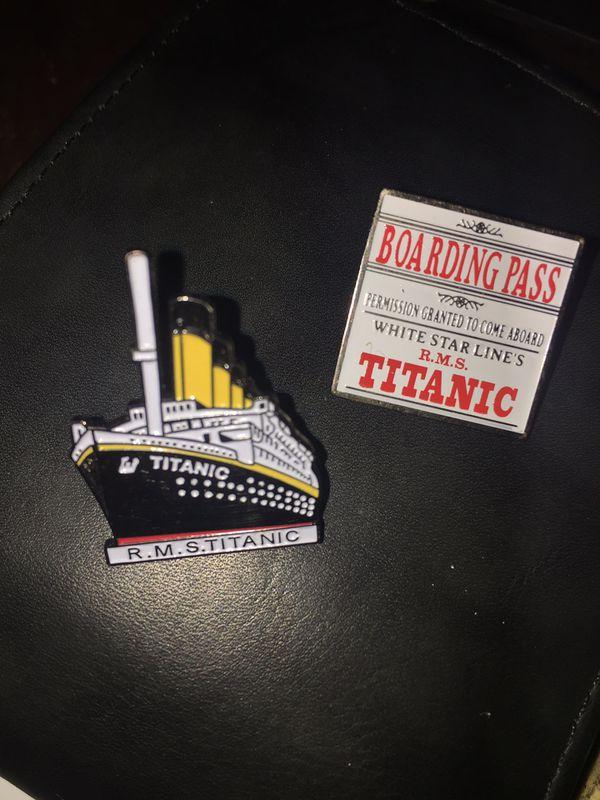 RARE R.M.S Titanic Museum collectors pins