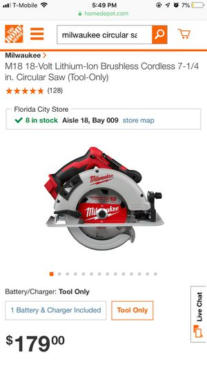 Brand Milwaukee 18 volt circular saw for Sale in Homestead, FL