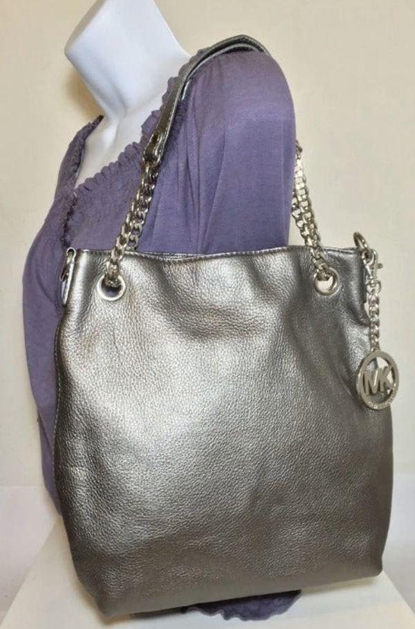 MICHAEL Michael Kors Jet Set Chain Strap Silver Bag
