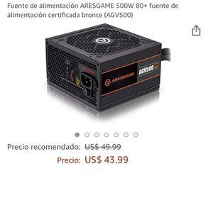 Fuente De Alimentación Aresgame 500w 80+ for Sale in Las Vegas, NV