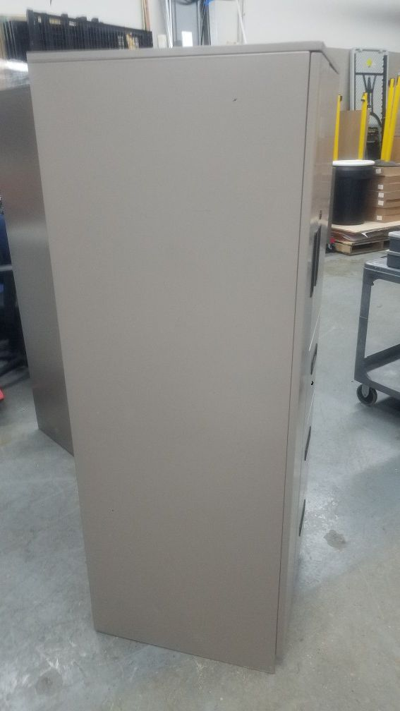 metal wardrobe cabinet and lateral file cabinets