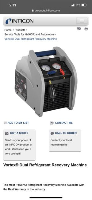 Dual ac refrigerant recovery machine brand new for Sale in El Paso, TX