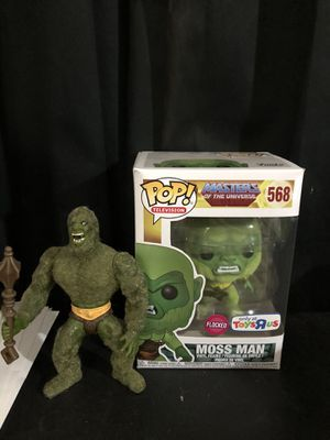 Moss man masters of the universe funko pop toys r us edition and vintage figure for Sale in Niederwald, TX