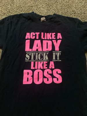 Adult small gildan black gymnastics shirt stick it like a boss for Sale in Grand Prairie, TX