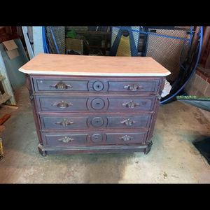 Antique Victorian Dresser With Marble Slab for Sale in Chevy Chase, MD
