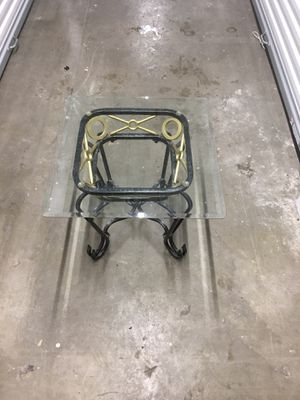 Iron coffee glass table for Sale in Denver, CO