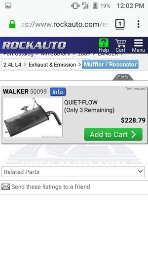 08+ Lancer OEM Axle Back Muffler for Sale in Cleveland, OH