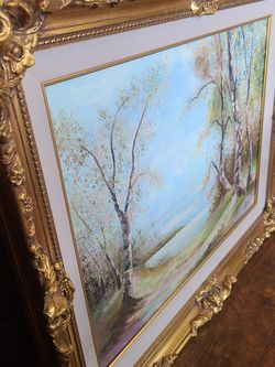 Beautiful Oil Paint with Golden Wood Frame! for Sale in Rancho Cucamonga,  CA