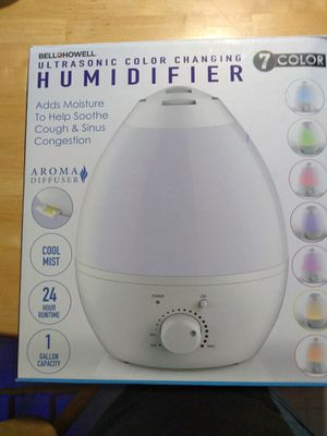 Bell Howell Ultrasonic Color Changing Humidifier for Sale in Milpitas, CA