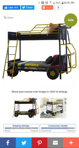 Used jeep bunk bed good condition for Sale in Spanaway, WA