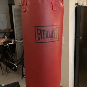 Everlast Punching Bag + Gloves for Sale in Seattle, WA