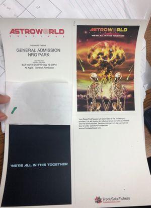 Astroworld festival for Sale in Corpus Christi, TX