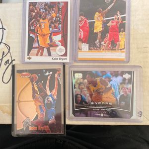 4 Basketball Cards / Kobe Bryant for Sale in Gilroy, CA