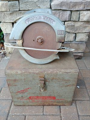 """Vintage Porter Cable Model 108 All Metal Case 8"""" Circular Saw for Sale in Tampa, FL"""