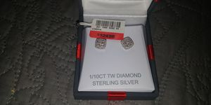 Sterling silver and diamond rings ,earrings,and necklace with pendant for Sale in Las Vegas, NV
