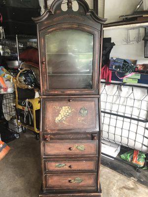 Antique furniture 21 wide x74 high x12 deep for Sale in Pompano Beach, FL